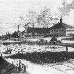 A Tiszai-pályaudvar és az ó-szolnoki Indóház a Leipziger Illustrirte Zeitung egy 1851-es számában